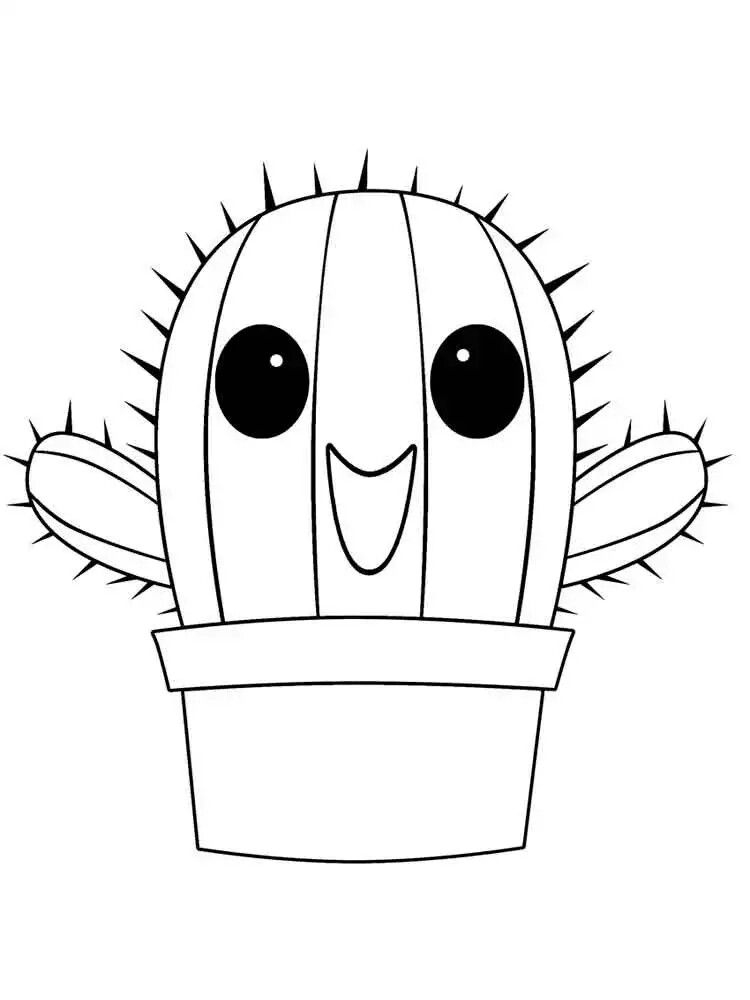 Coloriage Cactus Kawaii - 1Stepclinic à Coloriage Cactus A Imprimer