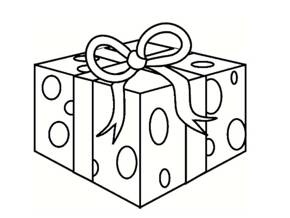 Coloriage Cadeau : 30 Modèles À Imprimer Gratuitement tout Coloriage Cadeau De Noel