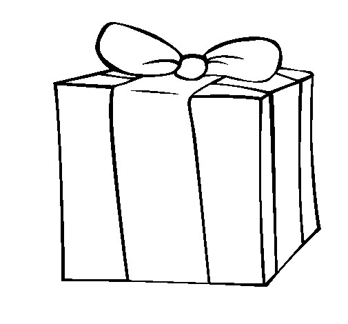 Coloriage Cadeau Classique Pour Occassion Dessin Gratuit À pour Coloriage Cadeau De Noel