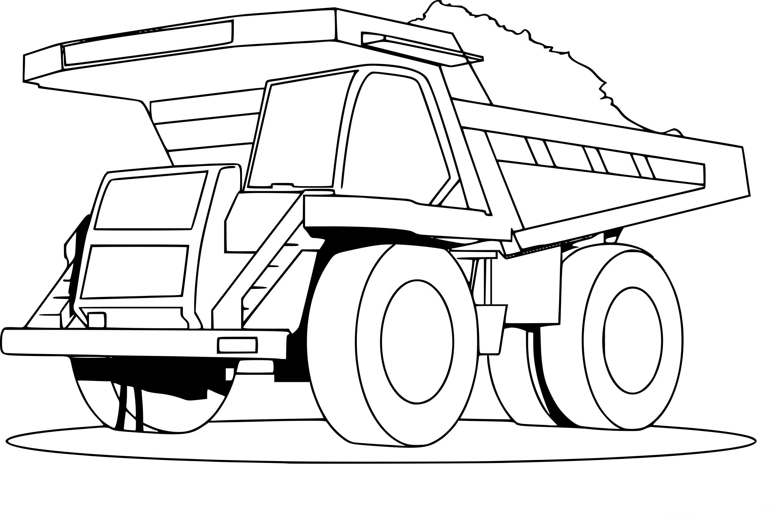 Coloriage Camion Benne Dessin À Imprimer Sur Coloriages encequiconcerne Coloriage Camion A Imprimer