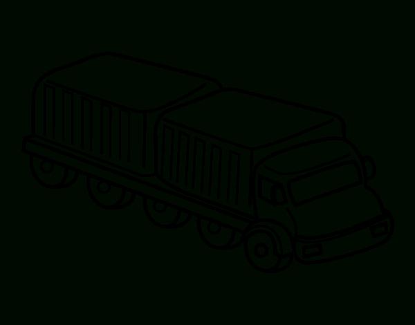 Coloriage Camion Grue À Colorier - Dessin À Imprimer dedans Coloriage Camion Grue