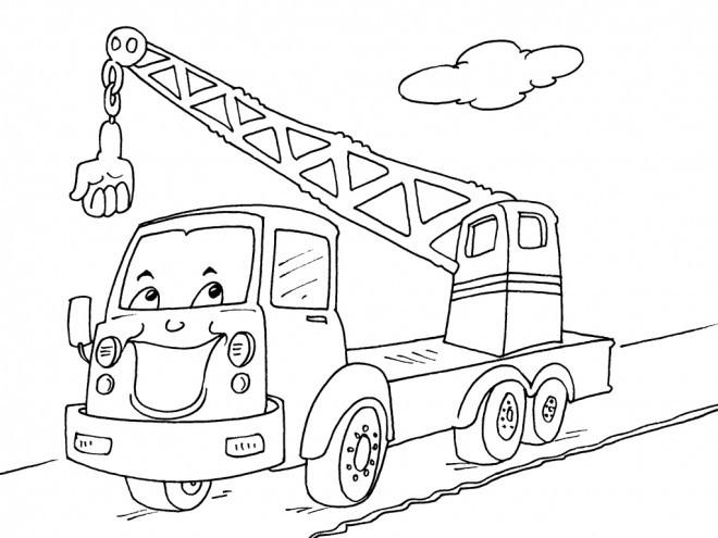 Coloriage Camion Grue De Pompier - Jobstips à Coloriage Camion Grue