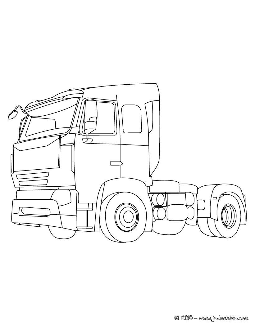 Coloriage Camion Volvo Imprimer à Coloriage Camion À Imprimer