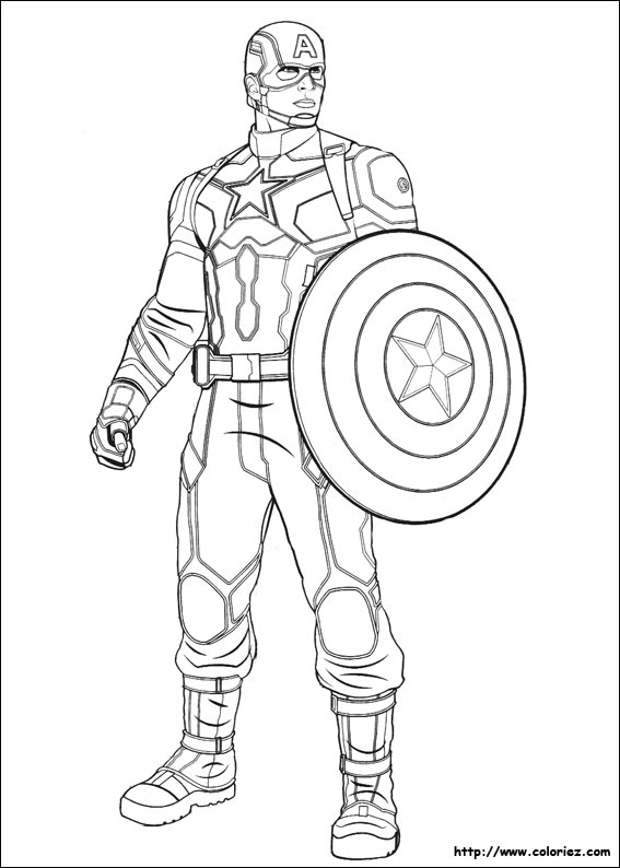 Coloriage - Captain America concernant Coloriage Captain America