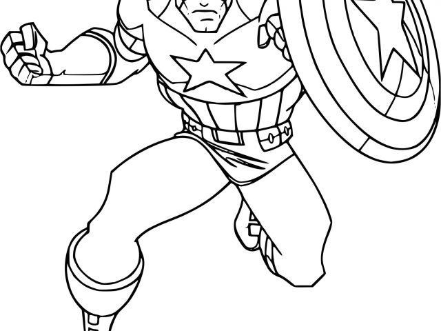 Coloriage Captain America Imprimer Gratuit Coloriage pour Jeux De Capitaine America Gratuit
