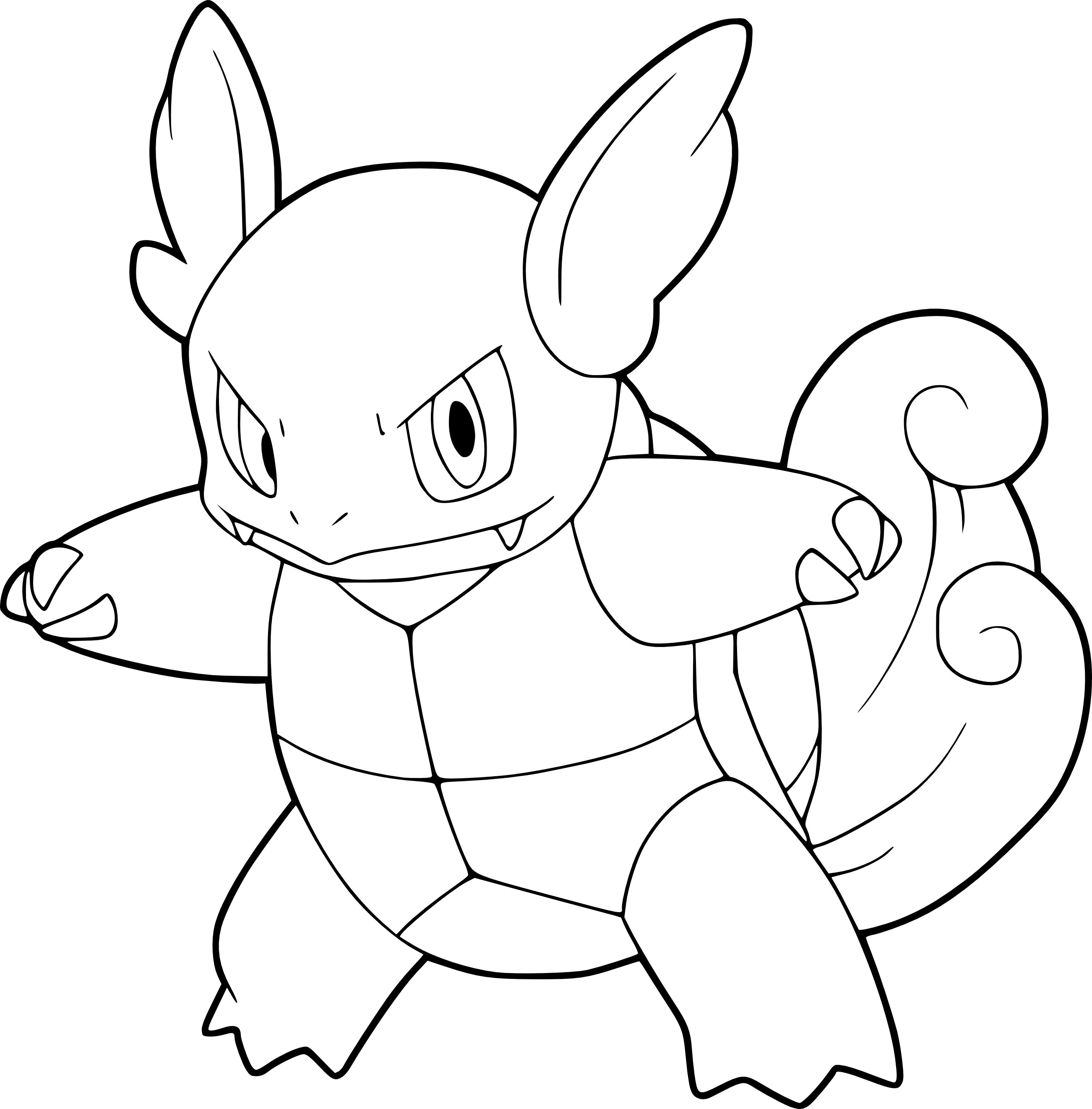 Coloriage Carabaffe Pokemon À Imprimer destiné Coloriage Pokemon
