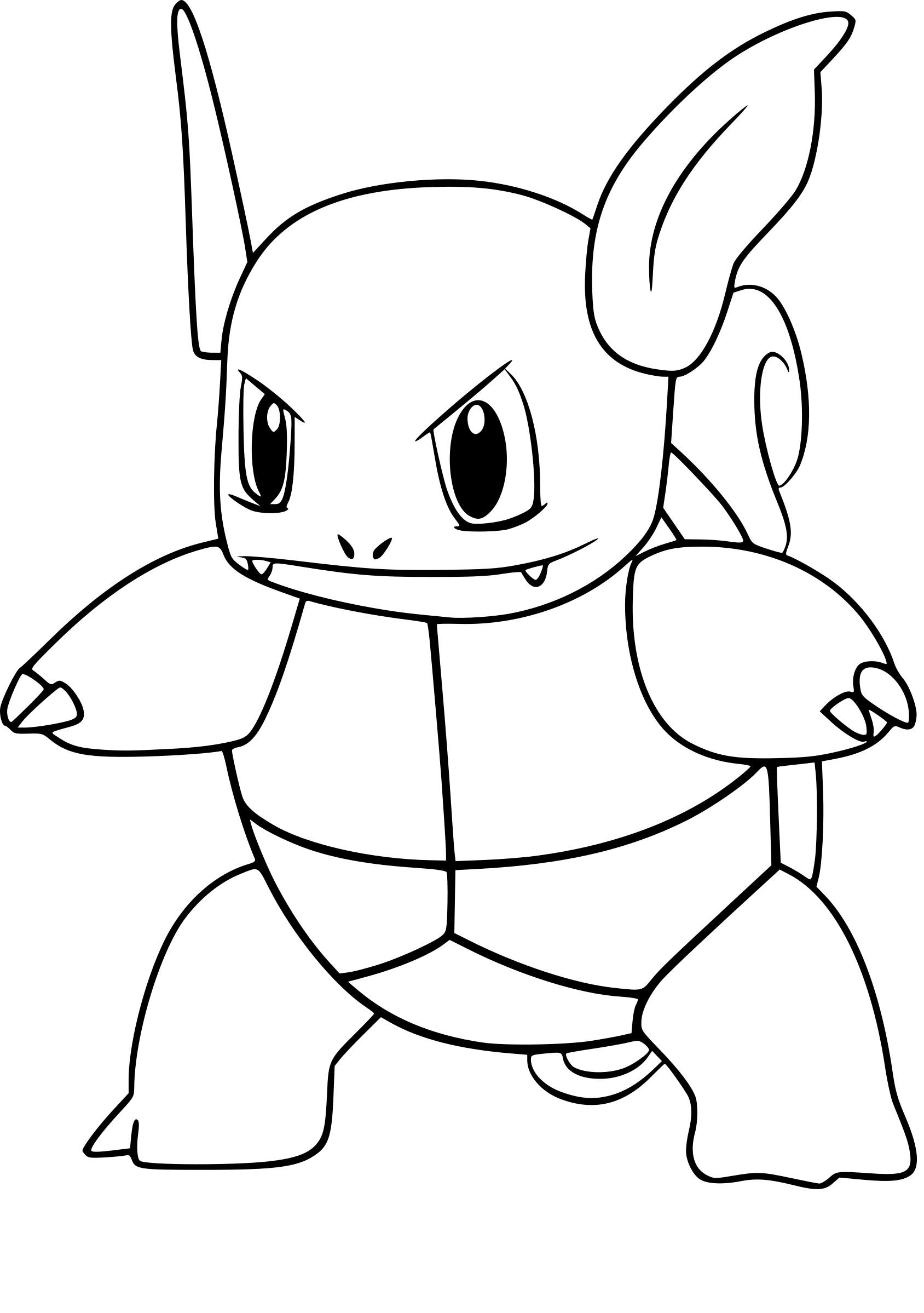 Coloriage Carabaffe Pokemon Go À Imprimer Sur Coloriages intérieur Coloriage Pok?Mon Sucreine