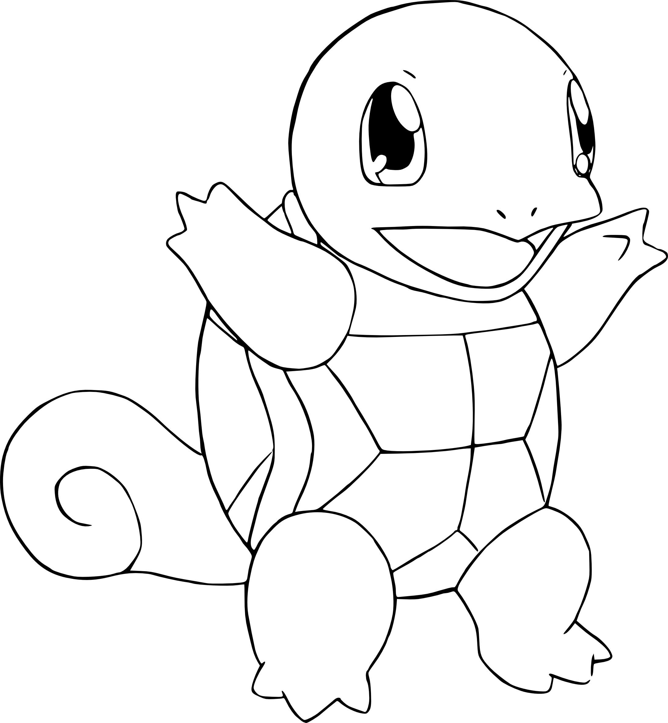 Coloriage Carapuce Pokemon À Imprimer avec Coloriage Pokemon A Imprimer