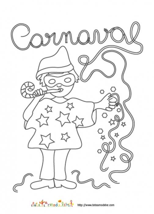 Coloriage Carnaval - Blog De Ma Nounou Christine À Cruas destiné Dessin Carnaval A Imprimer