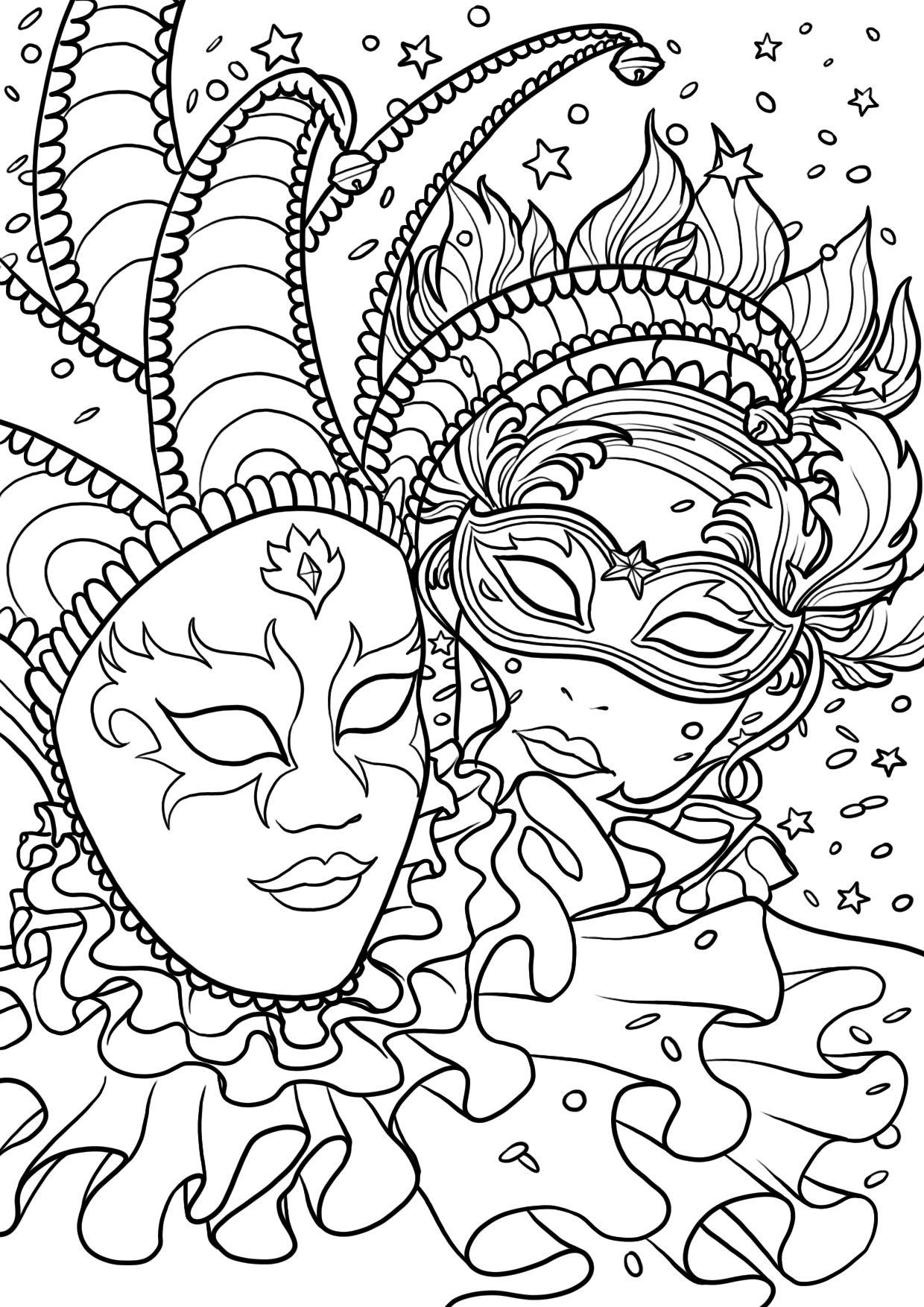 Coloriage Carnaval | Coloriage Carnaval, Coloriage, Dessin concernant Coloriage A Imprimer Gratuit