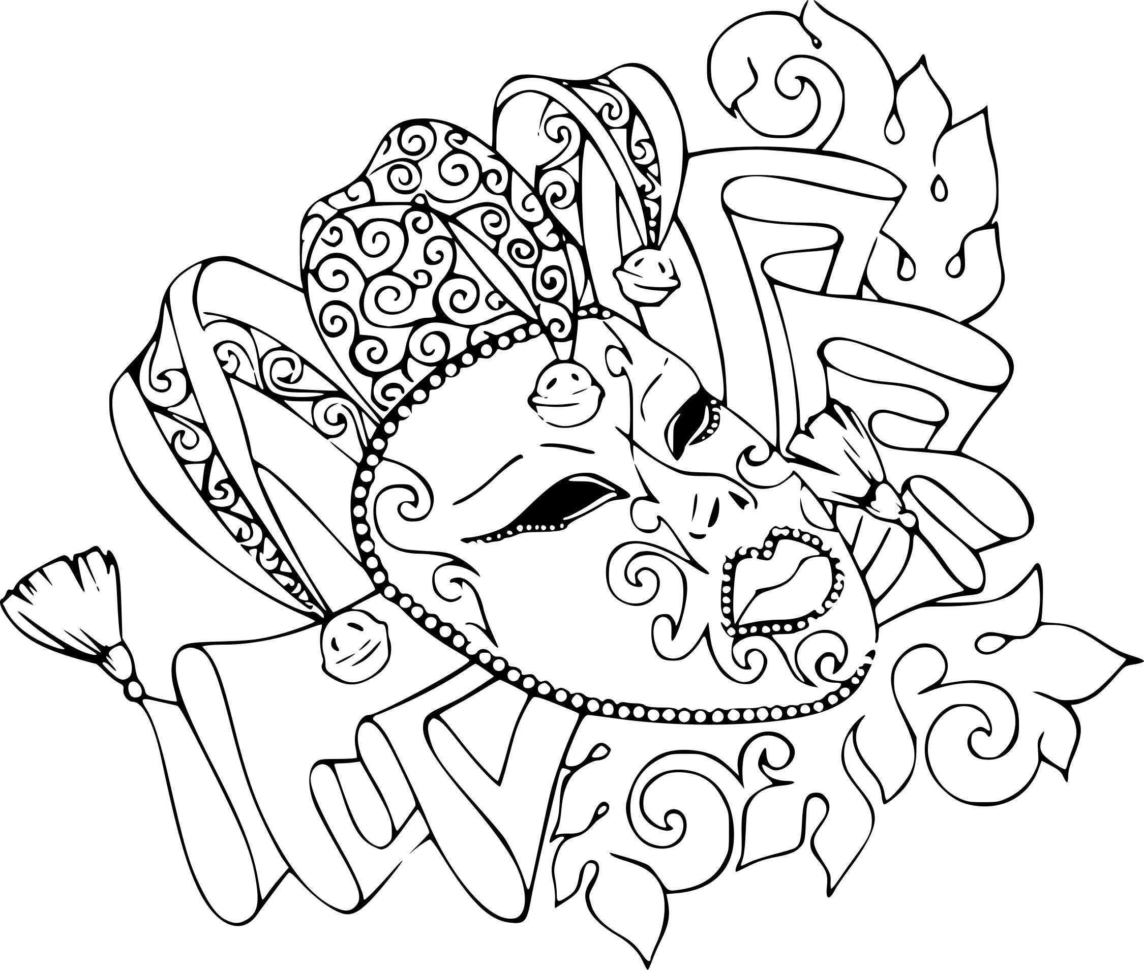 Coloriage Carnaval Rio À Imprimer Sur Coloriages pour Coloriage Carnaval A Imprimer Gratuit