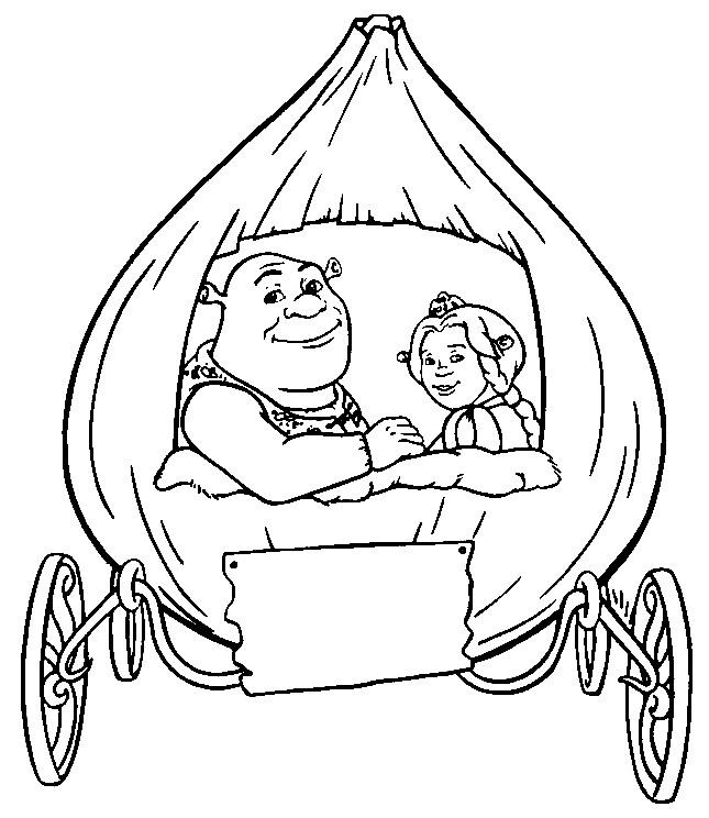 Coloriage Carrosse Shrek Dessin Gratuit À Imprimer avec Dessin Carrosse