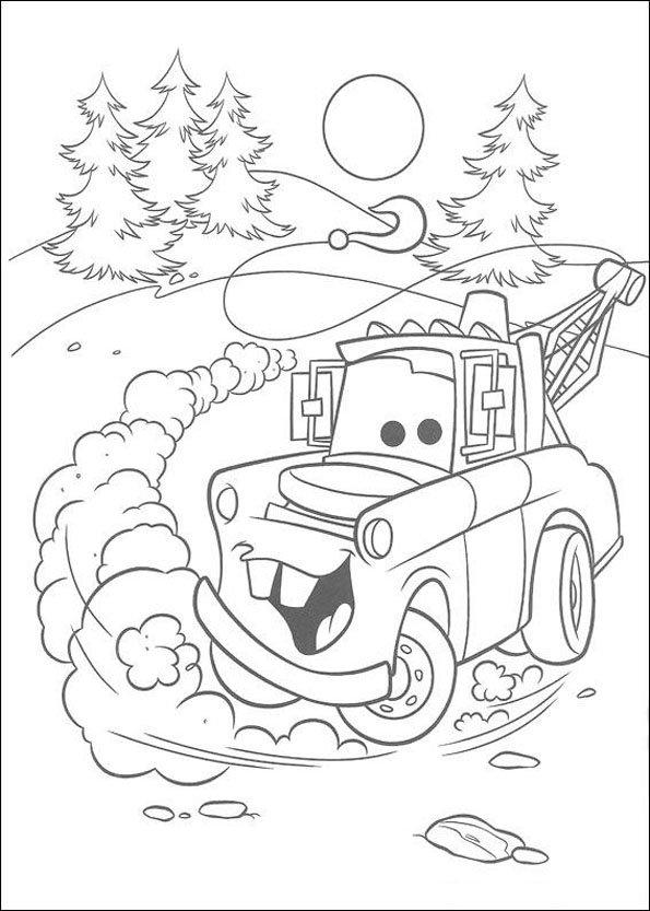Coloriage Cars 6 - Momes avec Image De Dessin Animé A Colorier