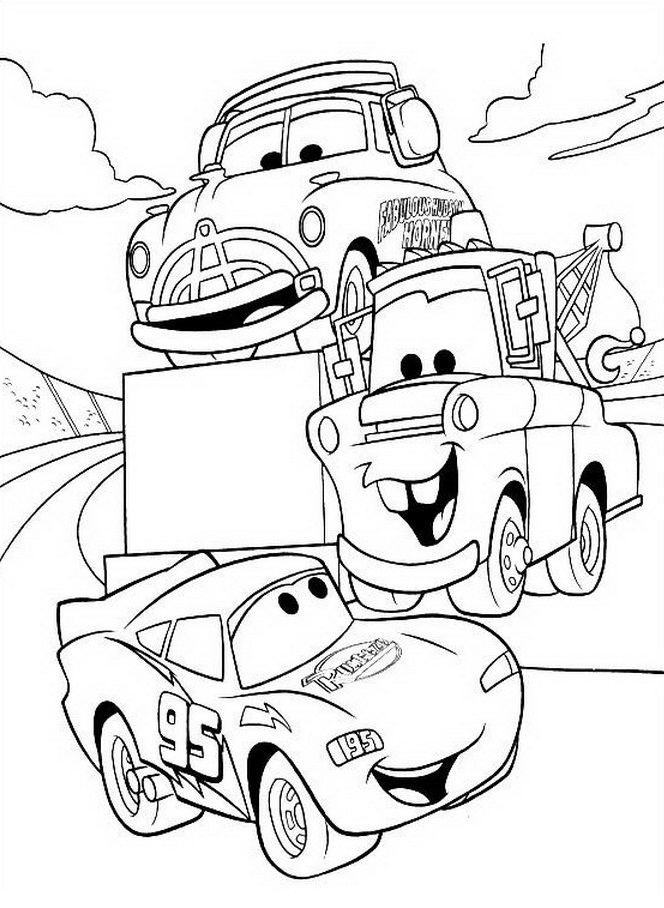 Coloriage Cars Et Cars 2 (Et Dessins De Flash Mc Queen dedans Coloriage Cars