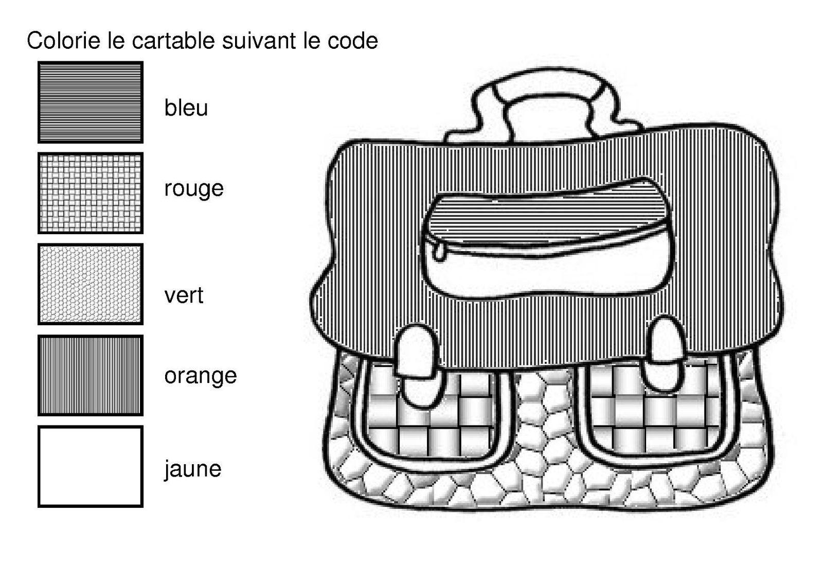 Coloriage Cartable Maternelle - Ohbq dedans Coloriage Cartable