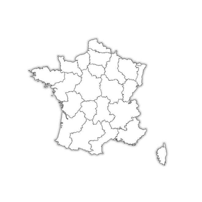 Coloriage Carte De France Dessin Gratuit À Imprimer tout Dessin Carte De France