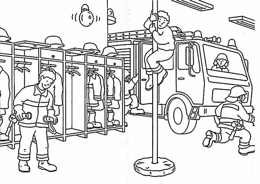 Coloriage Caserne De Pompier À Imprimer tout Dessin Pompier A Imprimer