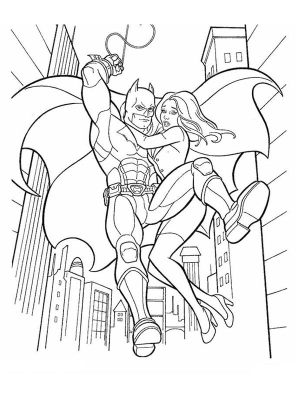 Coloriage Catwoman Batman avec Coloriage Batman A Imprimer