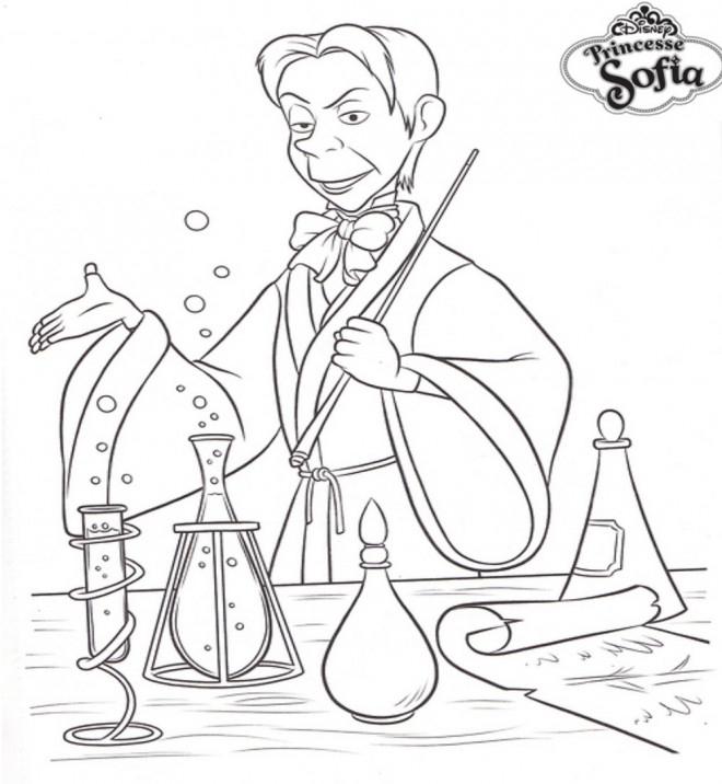 Coloriage Cédric Le Magicien Dans Princesse Sofia encequiconcerne Coloriage Princesse Sofia À Imprimer