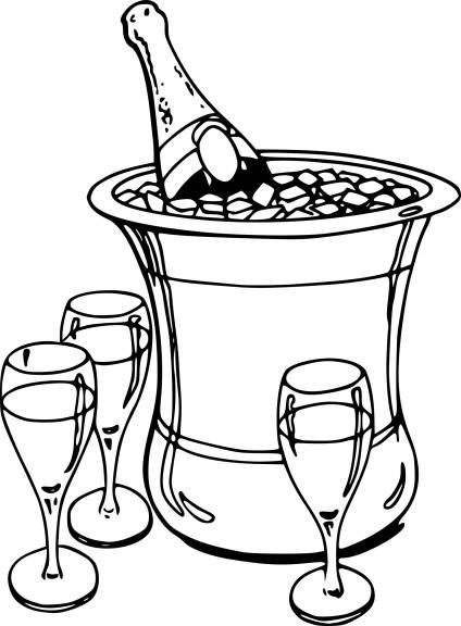 Coloriage Champagne À Imprimer intérieur Dessin De Champignons A Imprimer