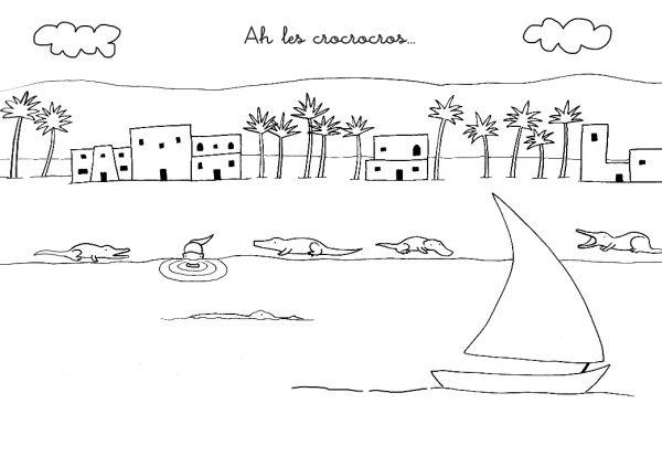 Coloriage Chanson : Ah Les Crocodiles concernant Ah Les Cro Cro Les Coco Pour Les Crocodiles
