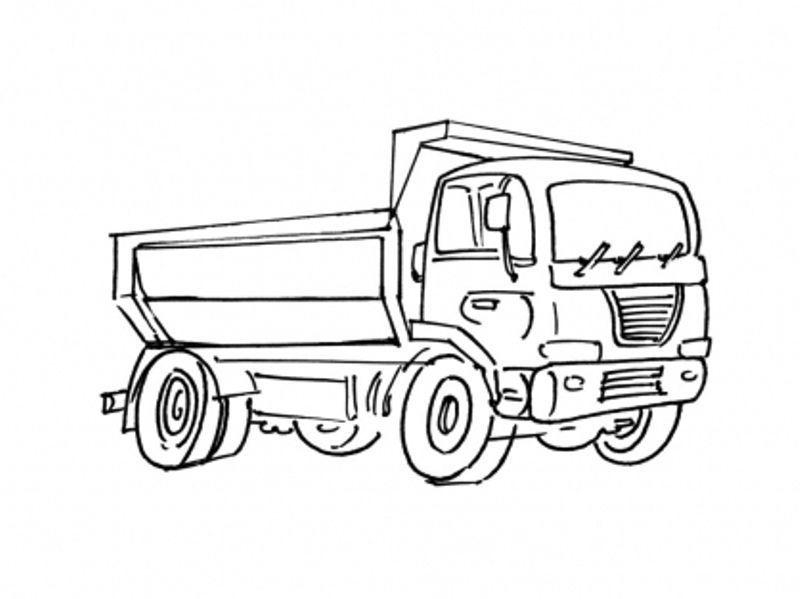 Coloriage Chantier Et Construction intérieur Coloriage Camion À Imprimer