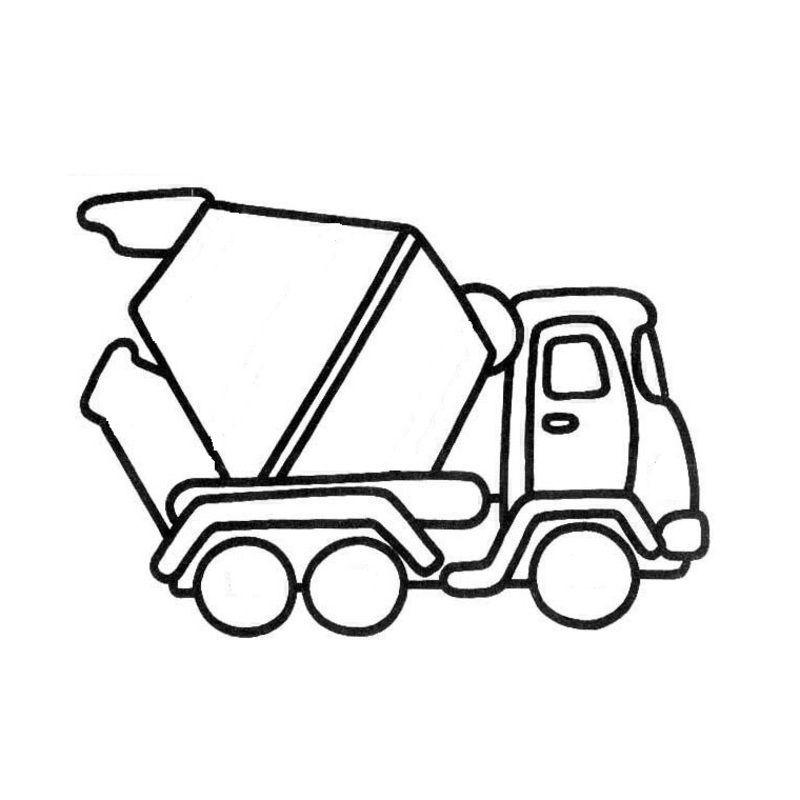 Coloriage Chantier Et Construction tout Coloriage Camion A Imprimer