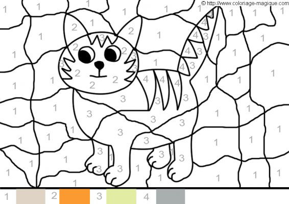 Coloriage Chat Arc En Ciel encequiconcerne Coloriage Magique Addition Maternelle