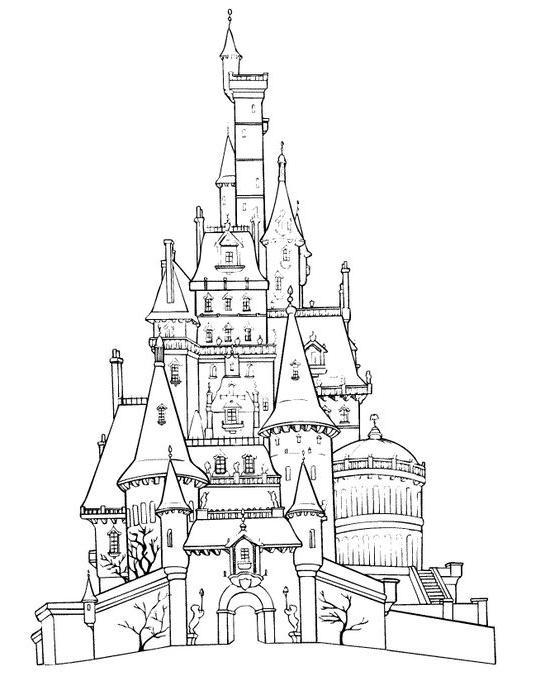 Coloriage Chateau Belle Au Bois Dormant A Imprimer - 1001 concernant Dessin Chateau Disney