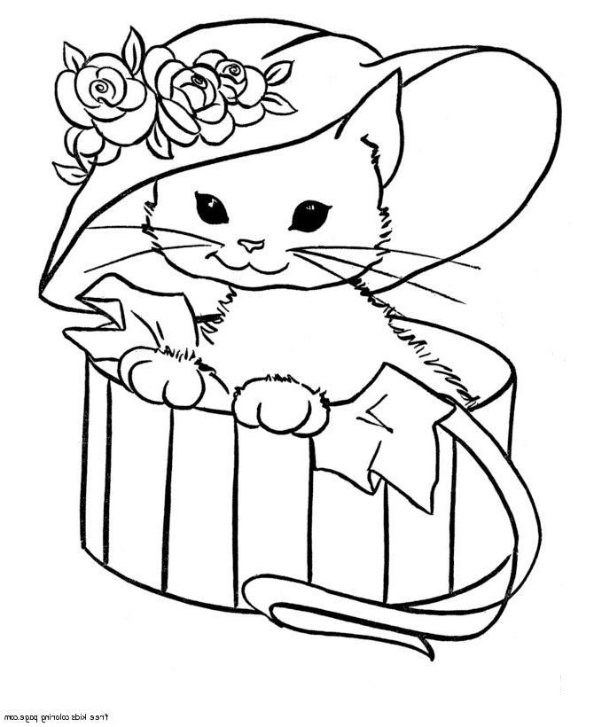 Coloriage Chats Mignons avec Image De Chat A Imprimer