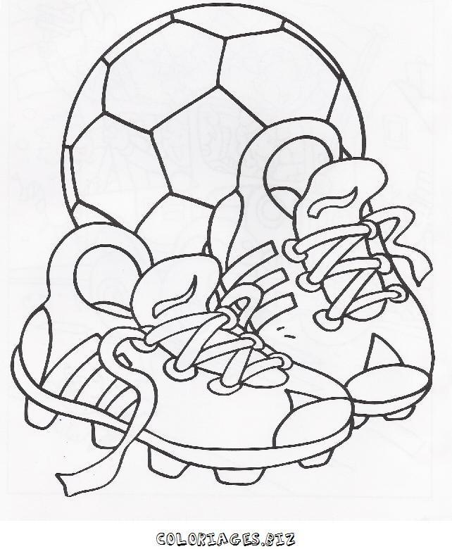 Coloriage Chaussures De Foot Dessin Gratuit À Imprimer à Coloriage Foot