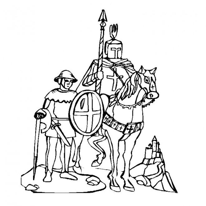 Coloriage Chevalier Croisade Dessin Gratuit À Imprimer destiné Coloriage Chevalier À Imprimer