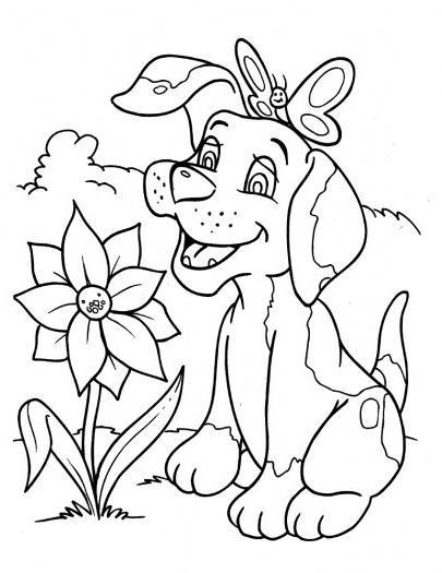 Coloriage Chien Trop Mignon - 1001 Animaux avec Dessin D Animaux Trop Mignon
