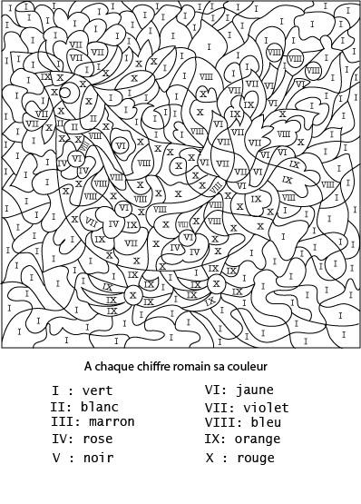 Coloriage Chiffres Latin Magique Dessin Gratuit À Imprimer dedans Coloriage Adulte À Imprimer Avec Code Couleur