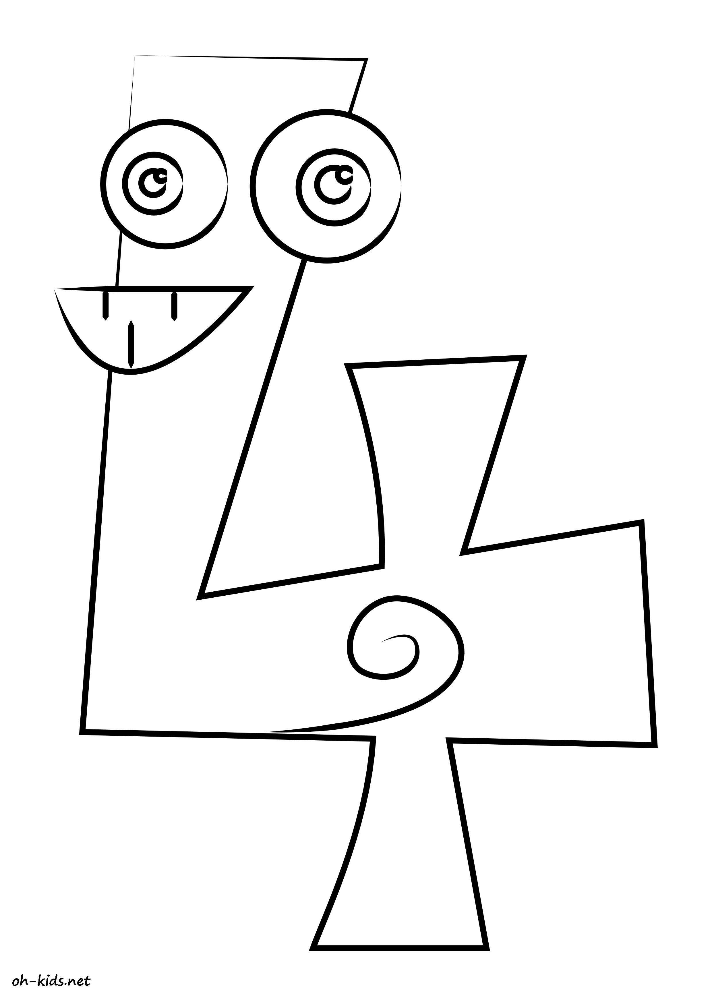 Coloriage Chiffres - Oh Kids Fr destiné Coloriage Chiffre