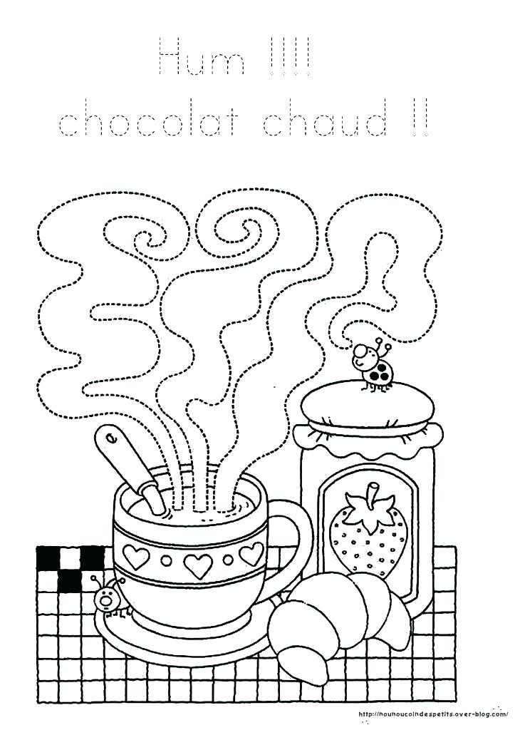 Coloriage Chocolat Chaud - Jobstips concernant Coloriage Chocolat