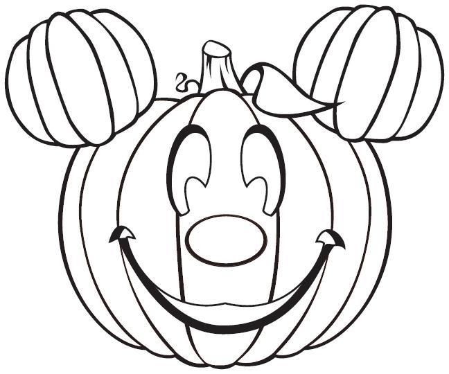 Coloriage Citrouille Mickey Gratuit À Imprimer intérieur Dessin Citrouille A Imprimer