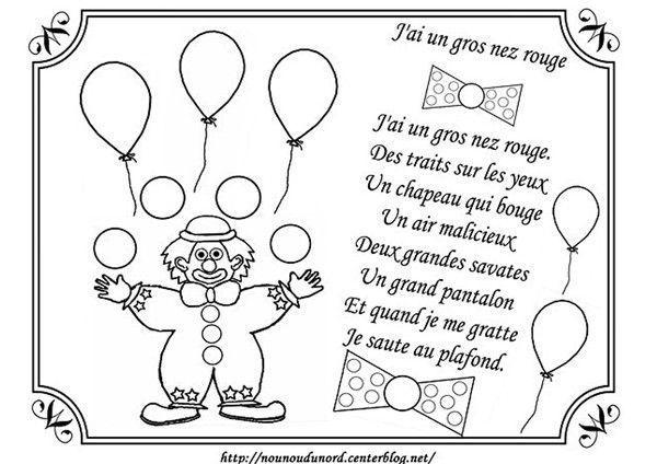 Coloriage Clown pour Nounou Du Nord