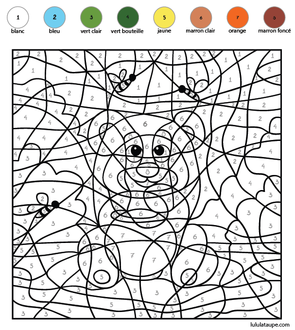 Coloriage Codé, Les Chiffres De 1 À 8 - Lulu La Taupe encequiconcerne Jeux De Dessin Gratuits