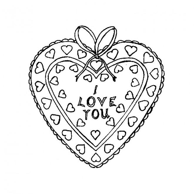 Coloriage Coeur Je T'Aime Dessin Gratuit À Imprimer pour Dessin A Imprimer Coeur