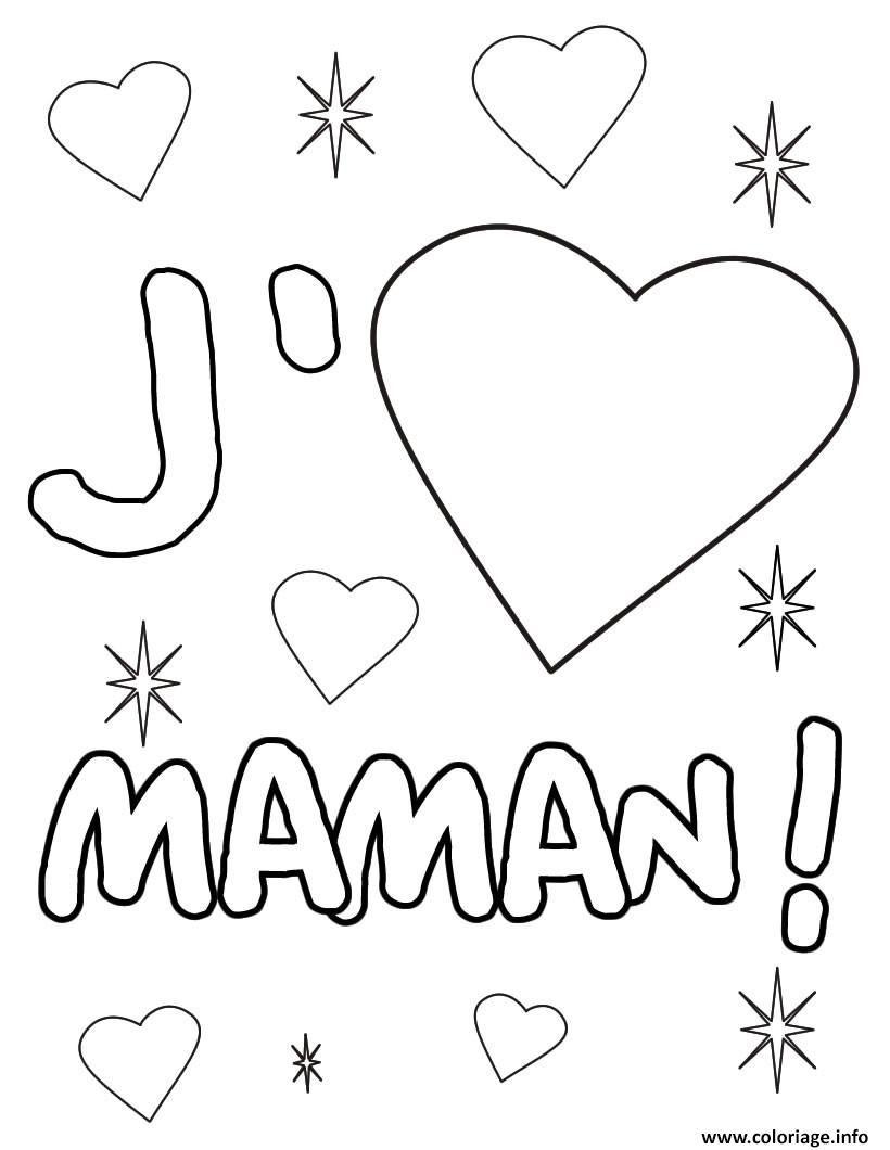 Coloriage Coeur Maman Dessin À Imprimer | Coloriage Fête concernant Dessin Pour La Fête Des Mères