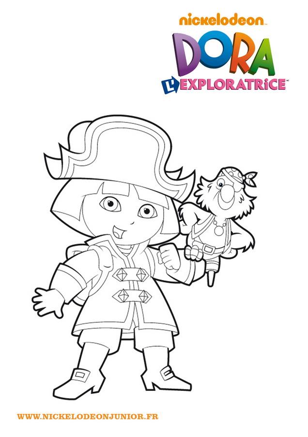 Coloriage Colorier - Coloriage Dora Colorier avec Dessin A Colorier Dora Gratuit A Imprimer