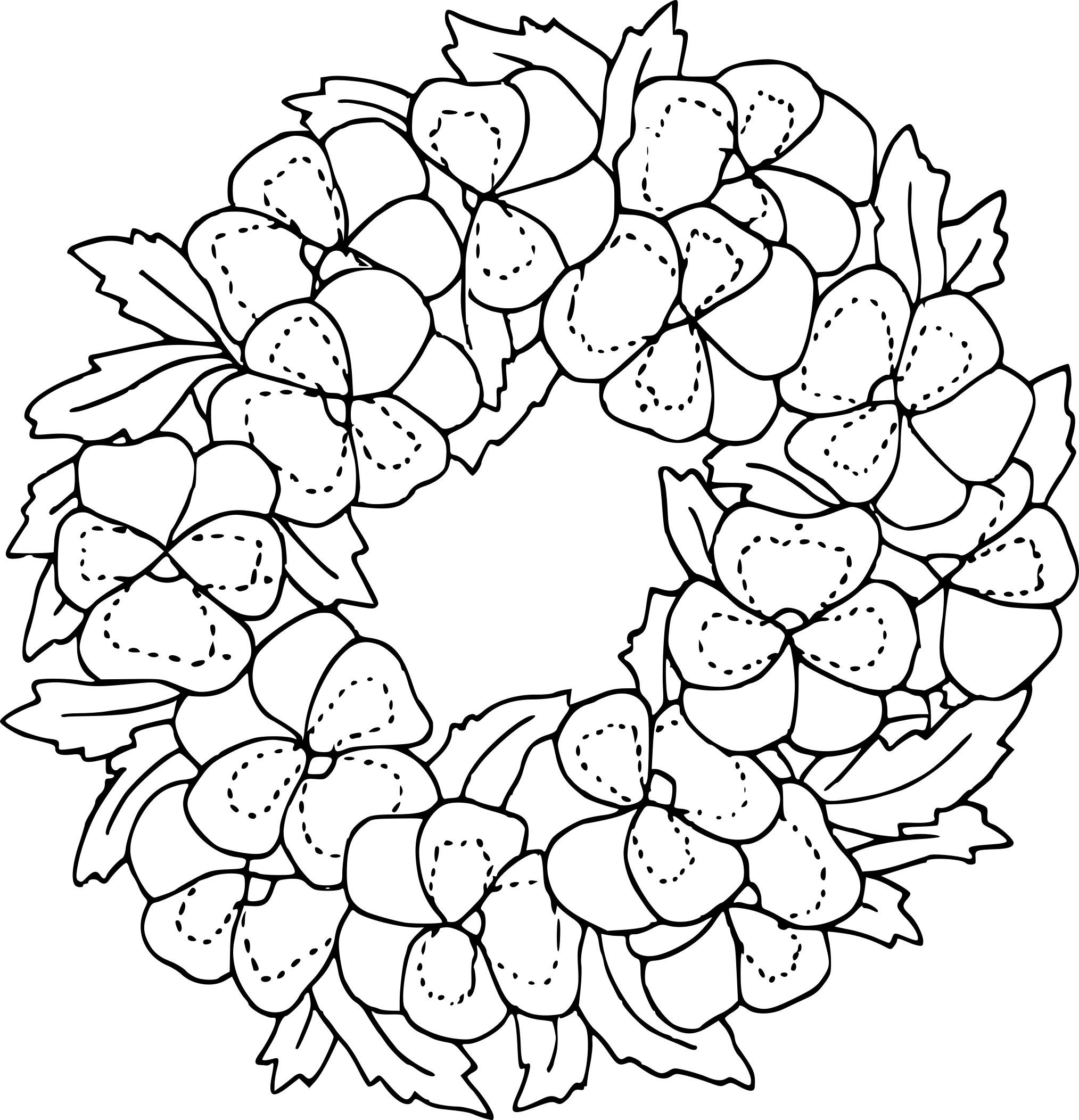 Coloriage Couronne De Fleur À Imprimer Sur Coloriages serapportantà Coloriage Bouquet De Fleurs A Imprimer
