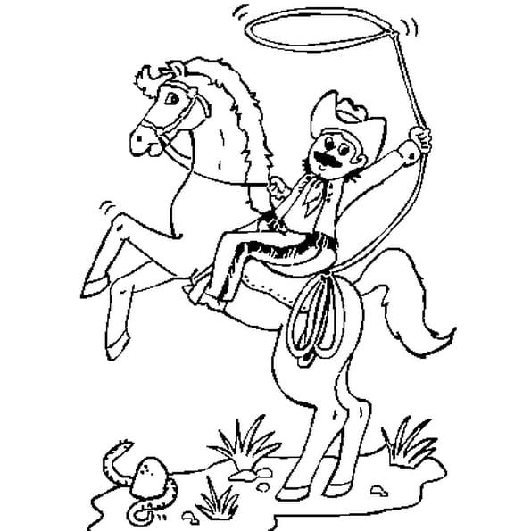 Coloriage Cow Boy En Ligne Gratuit À Imprimer encequiconcerne Dessin Chapeau De Cowboy