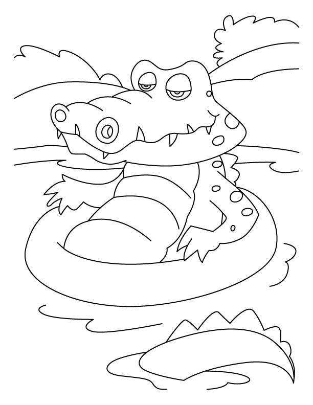 Coloriage Crocodile Dans L'Eau Dessin Gratuit À Imprimer destiné Coloriage Crocodile A Imprimer Gratuit
