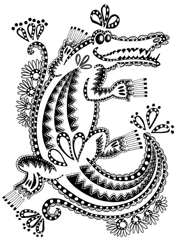 Coloriage Crocodile Du Nil encequiconcerne Crocodile À Colorier