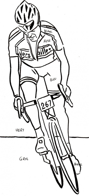 Coloriage Cyclisme Au Crayon Dessin Gratuit À Imprimer pour Coloriage De Perroquet A Imprimer Gratuit