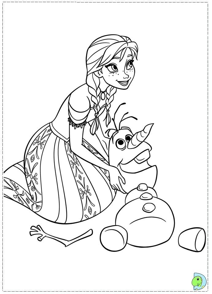 Coloriage D'Anna Et Olaf De La Reine Des Neiges à Coloriage Olaf À Imprimer