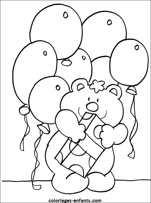 Coloriage D'Anniversaire À Imprimer Sur Coloriages-Enfants intérieur Dessin D Anniversaire À Imprimer