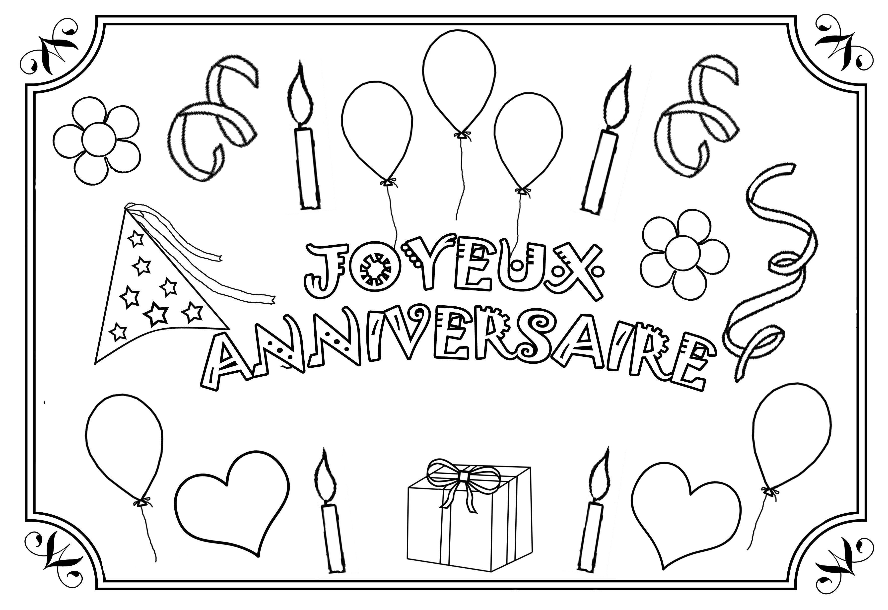 Coloriage D'Anniversaire Pour Tonton Elegant 24 Dessins De concernant Dessin A Imprimer Joyeux Anniversaire